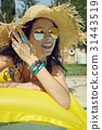 mattress, sunbathing, bikini 31443519