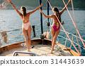 joyful women yachting 31443639