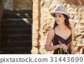 여성, 모자, 매력적인 31443699