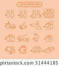 Hotel service icon set 31444185