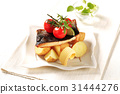 Pan fried fish fillet with new potatoes 31444276