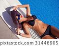 beautiful girl  in black bikini 31446905