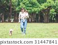 ความเป็นพ่อแม่,เดิน,คน 31447841
