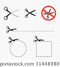 Scissors icon set 31448980