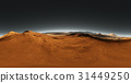 Panorama of Mars sunset, environment HDRI map 31449250