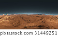 Panorama of Mars sunset, environment HDRI map 31449251