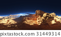 Panorama of fantasy landscape sunset, HDRI map 31449314