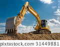 excavator blue sky heavy machine construction site 31449881