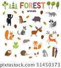 Set of forest animals made in flat style vector 31450373