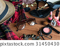 woman's dressing table with cosmetics set 31450430