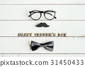 Happy Father's Day wooden letters 31450433