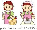 料理と買い物をする女性 31451355