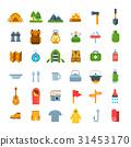camp, icon, vector 31453170