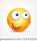 Smiley,emoticon. Yellow face with emotions. Facial 31453220