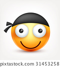 Smiley,emoticon. Yellow face with emotions. Facial 31453258