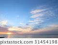 아침 놀 하늘 쿠지 浜海岸 이바라키 현 히타치시 31454198