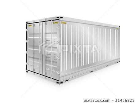 Cargo Container Vector 31456825