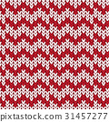 red and white chevron knitting pattern background 31457277