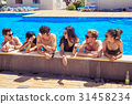 pool, cheerful, drink 31458234