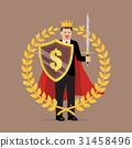 Man with shield sword and golden wreath 31458496