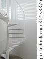 White spiral staircase 31458876