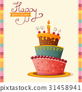 birthday card with cake 31458941