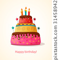 birthday card with cake 31458942