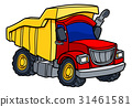 Cartoon Dump Truck 31461581
