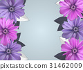 Abstract Anemone Flower Realistic Vector Frame 31462009