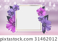 Abstract Anemone Flower Realistic Vector Frame 31462012