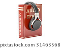 book, audio, headphones 31463568