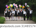 young boys and girls in uniform outdoors 31465574