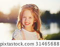 cute little girl in summer park 31465688