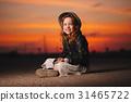 girl sunset little 31465722