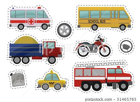 Cartoon kids car toys illustration. Vector icons 31465765