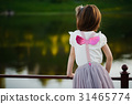 little girl with pink wings 31465774