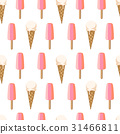 Seamless pattern with ice cream 31466811