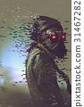 the man cyborg in a futuristic mask 31467282