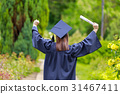 Young woman in graduation day celebrating 31467411