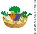 蔬菜,茄子,蔥,蘿蔔,胡蘿蔔的插圖 31468928