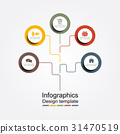 infographic, circle, template 31470519