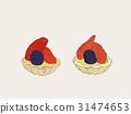 mix berry mini tart , sketch vector. 31474653