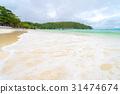White sand beach 31474674