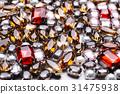 Colorful gemstones variety background 31475938