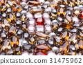 Colorful gemstones variety background 31475962