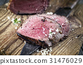 Barbecue Point Steak on old Chopping Board 31476029