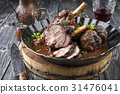 Lamb Knockle in Red WIne Souce 31476041