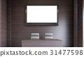 White television in seminar room , 3D rendering 31477598