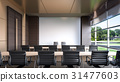 Large conference room in hotel , 3d rendering 31477603