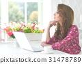 beautiful female laptop 31478789